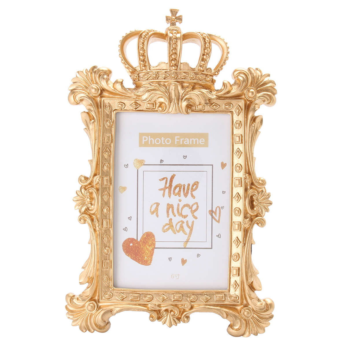 Gold crown home decor picture photo frame baroque luxury for Baroque home accessories
