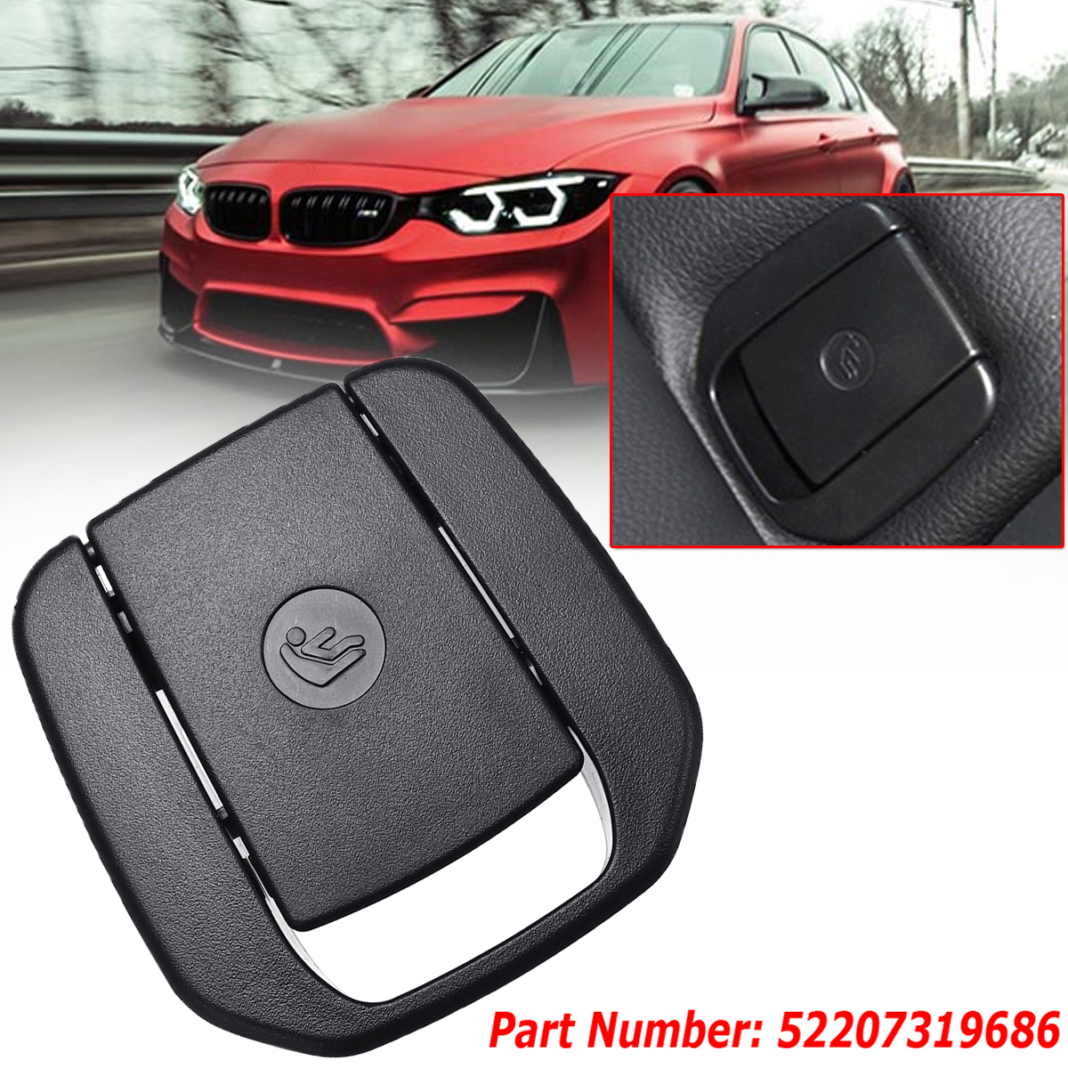 For BMW Car Rear Child Seat Safety Belt Anchor Cover 52207319686