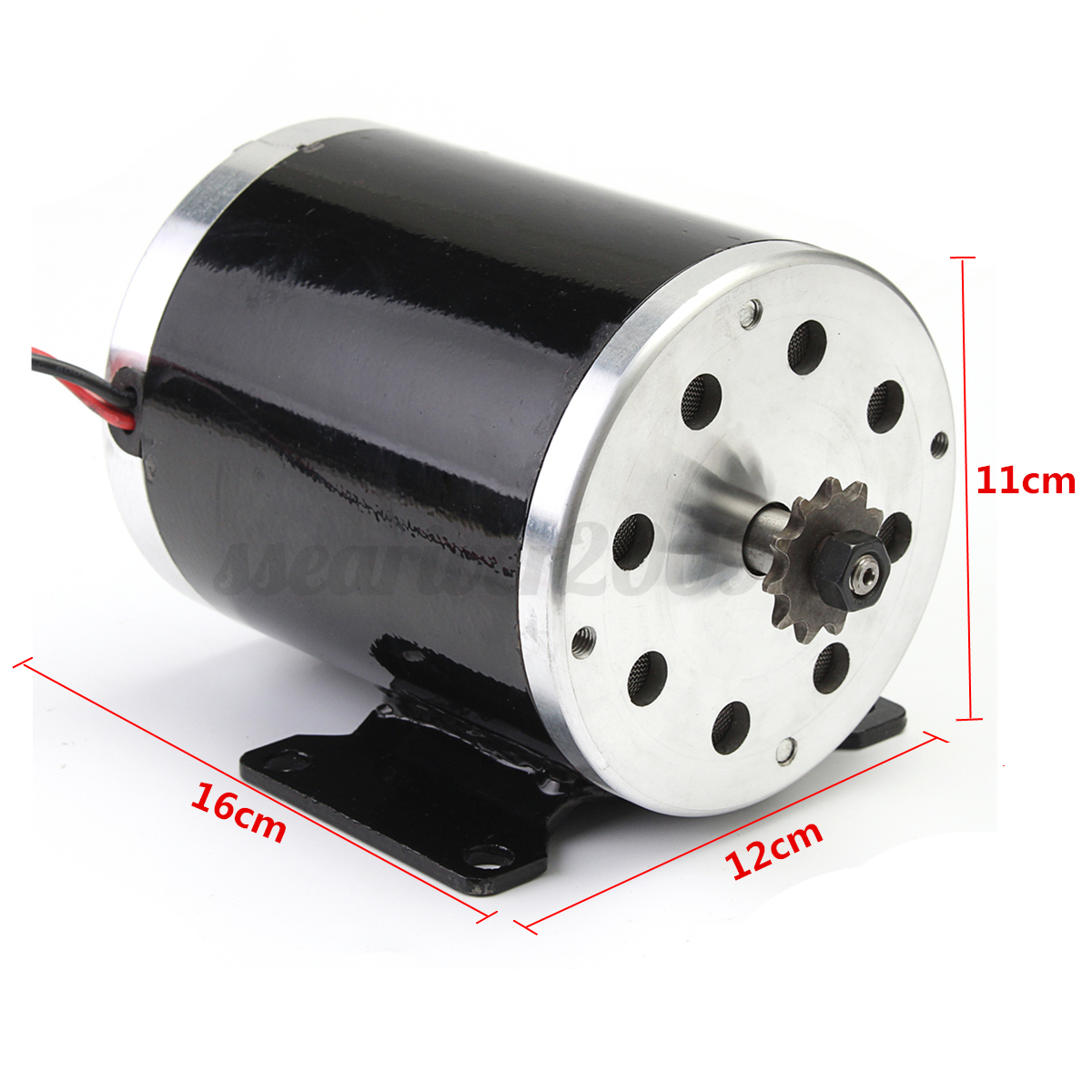 500w 24v Dc Electric Brush Motor Zy1020 For Diy Electric