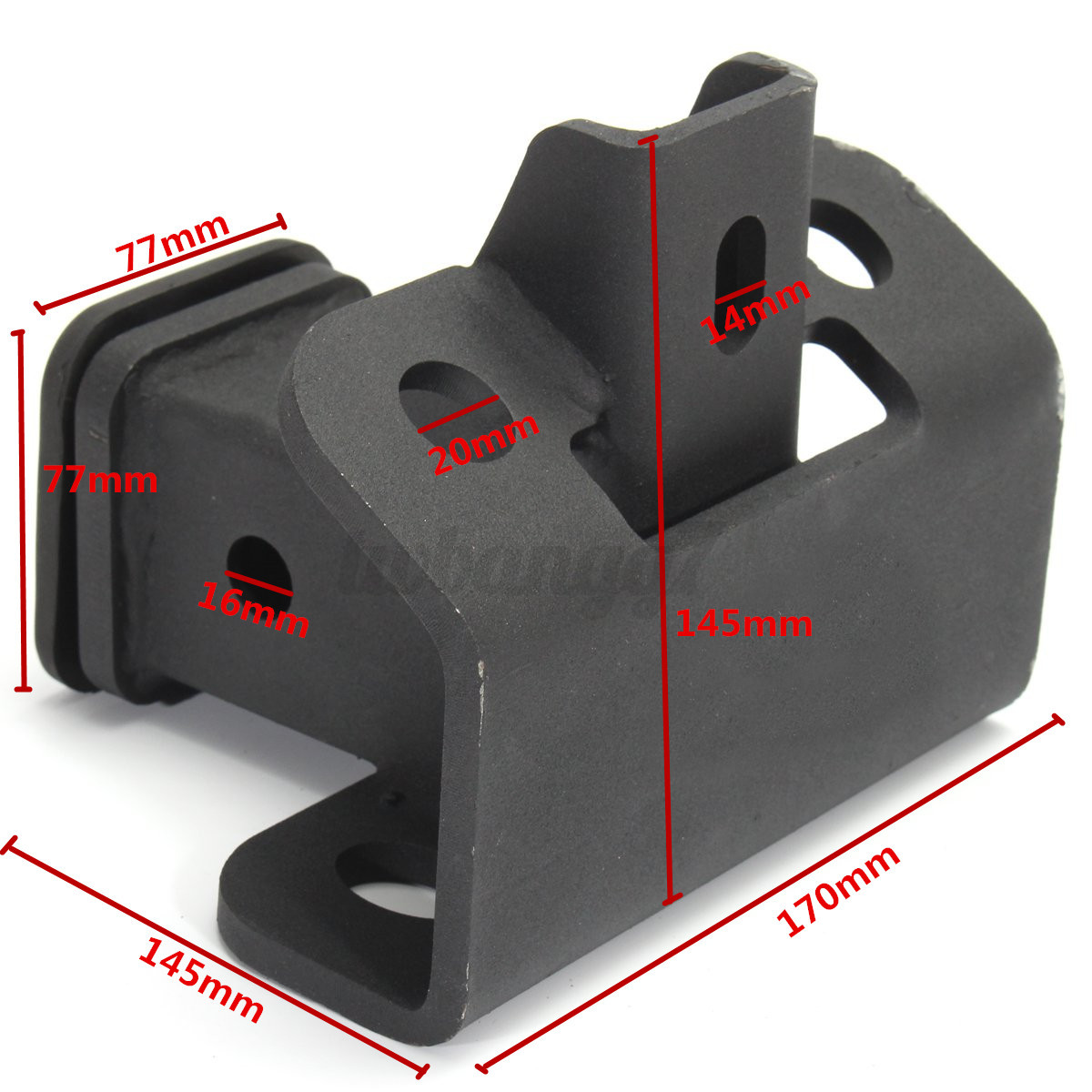 Tow Towing Trailer Hitch Receiver Black For Land Rover LR3
