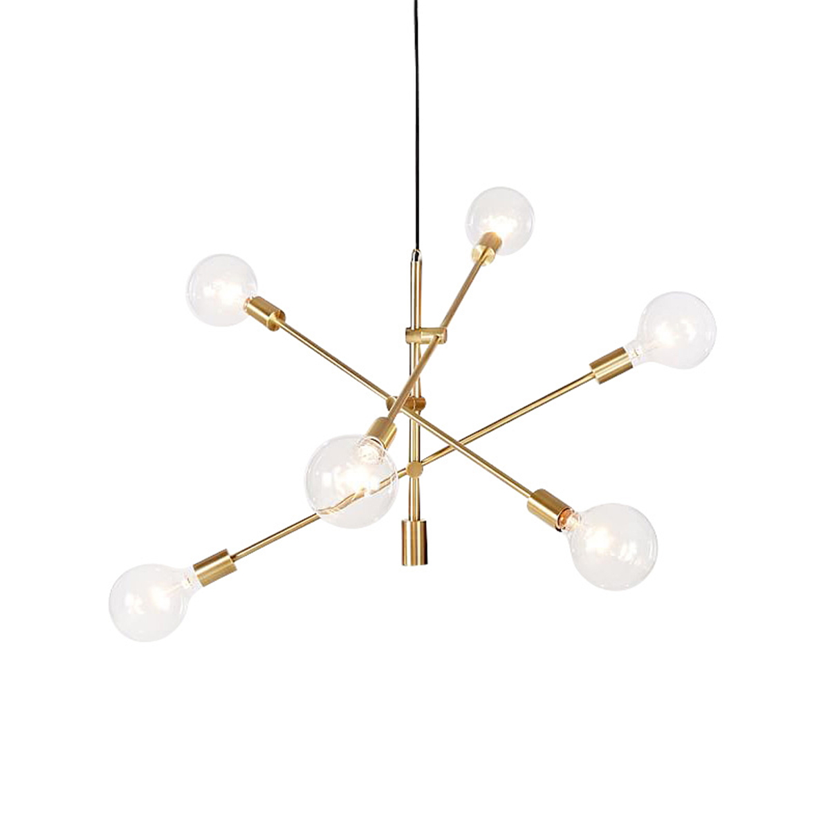 Modern Chandeliers 6 Lights Pendant Lamp Metal