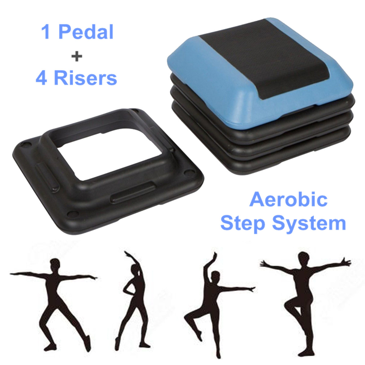 16-039-039-Aerobic-Step-4-Risers-Fitness-Exercise-Stepper-Cardio-Workout-Pedals thumbnail 2