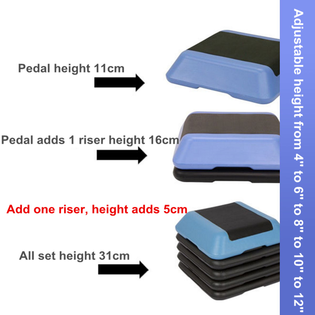 16-039-039-Aerobic-Step-4-Risers-Fitness-Exercise-Stepper-Cardio-Workout-Pedals thumbnail 6
