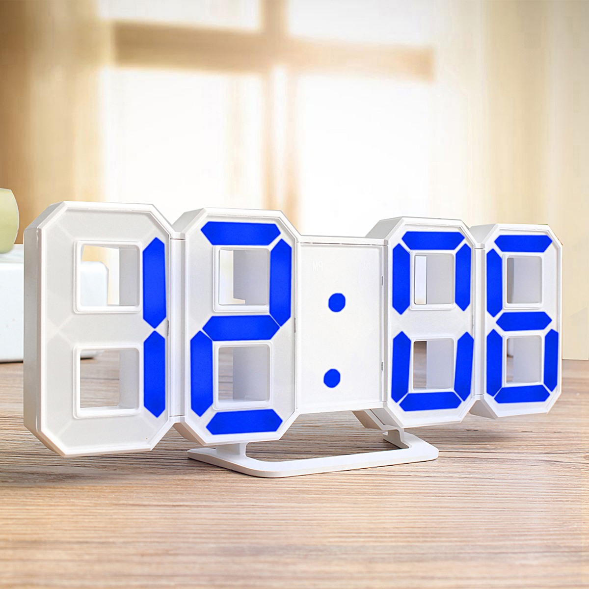 Digoo DCK3 Large 3D LED Digital Wall Clock Alarm Clock With Snooze