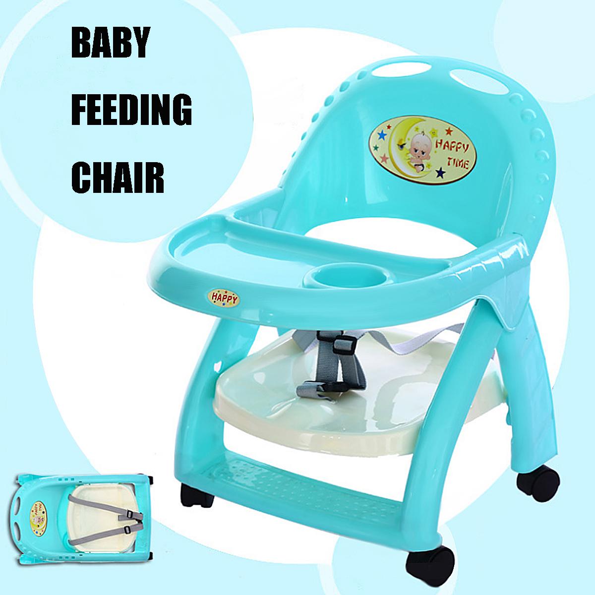 Foldable Baby High Chair Recline Feeding Highchair Height