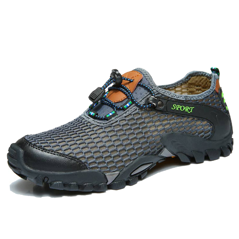 Men's Mesh Breathable Water River Sports Shoes Trail ...