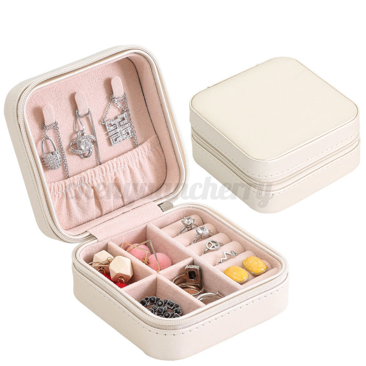 2-Colors-Travel-Jewelry-Box-Organizer-Leather-Jewellery-Ornaments-Case-Storage thumbnail 15