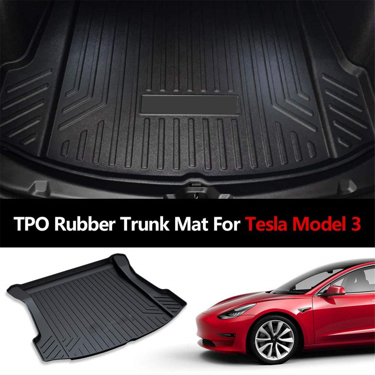 Cargo Kofferraummatte hinten //vorne Wasserdichter Gummiteppich Für Tesla Model 3