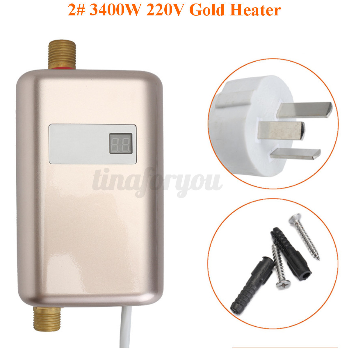 Instant Hot Water Heater Home : V  w electric shower tankless instant hot