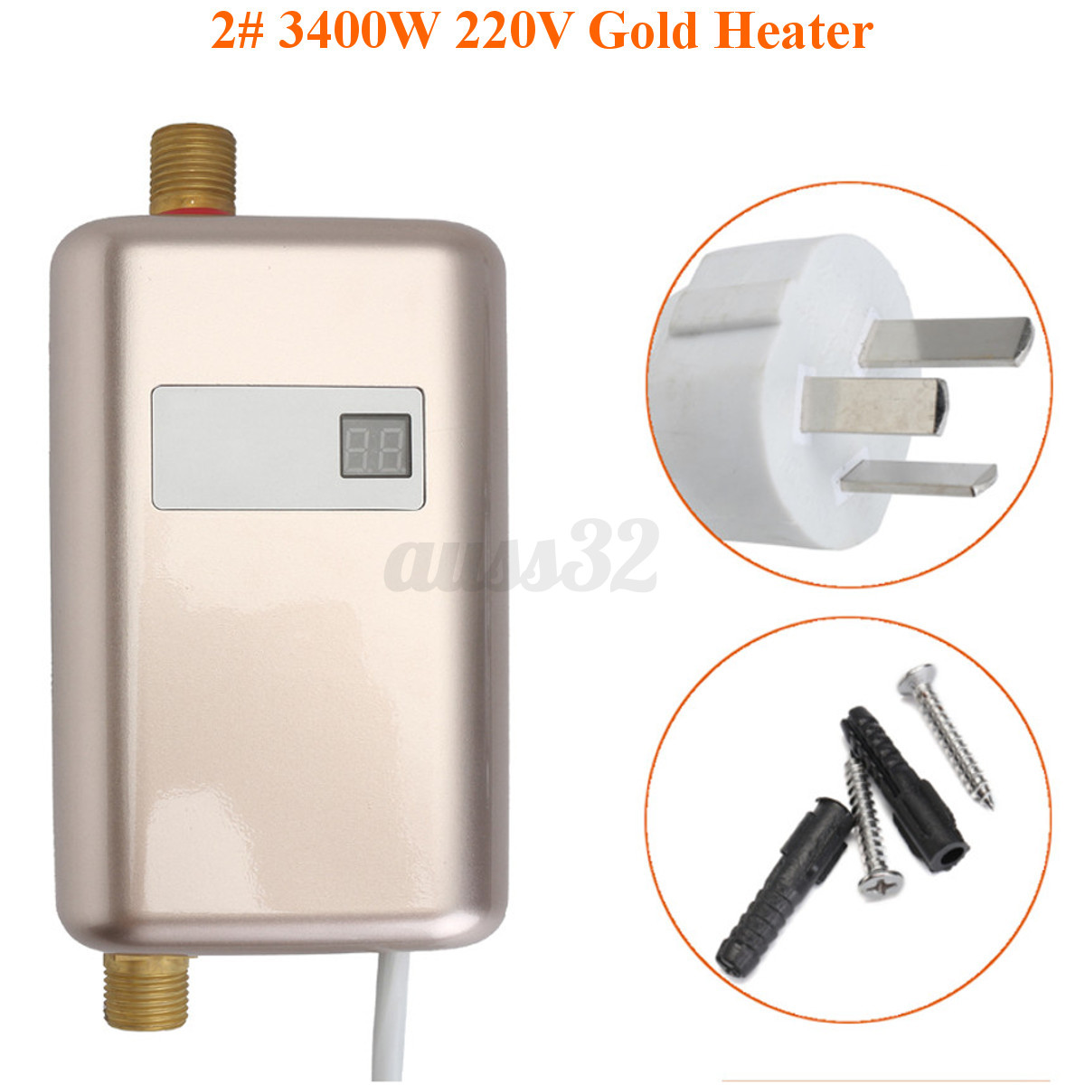 chauffe eau electrique instantan r chauffeur chaudi re cuisine salle de bain ebay. Black Bedroom Furniture Sets. Home Design Ideas