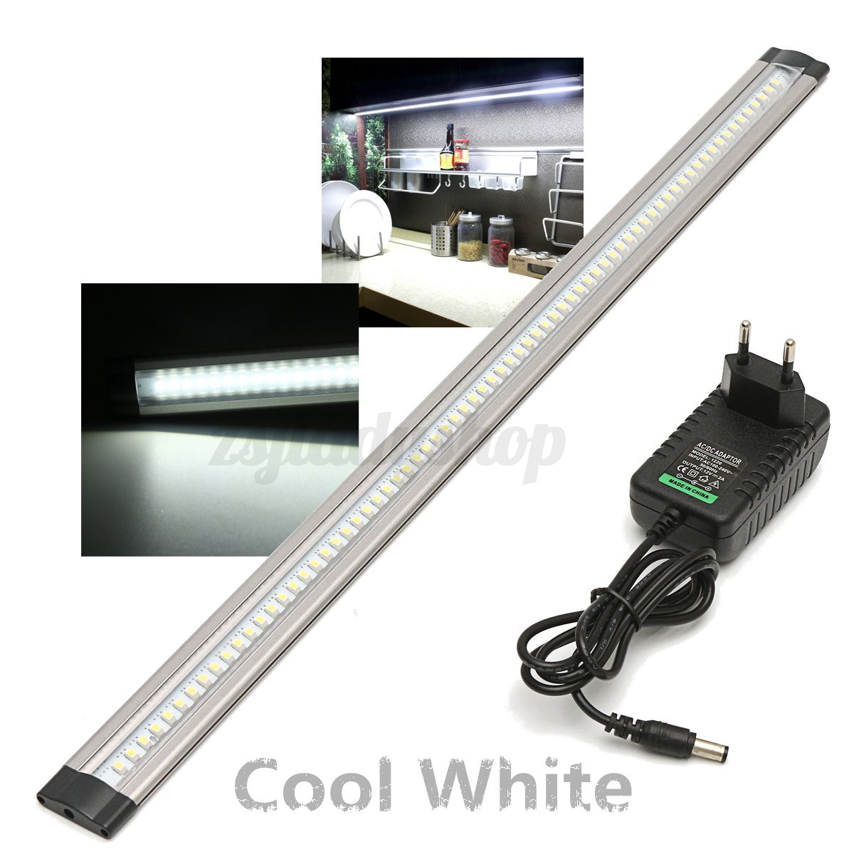 50cm led under cabinet cupboard induction lamp strip light eu plug home kitchen ebay for 50cm kitchen cabinets