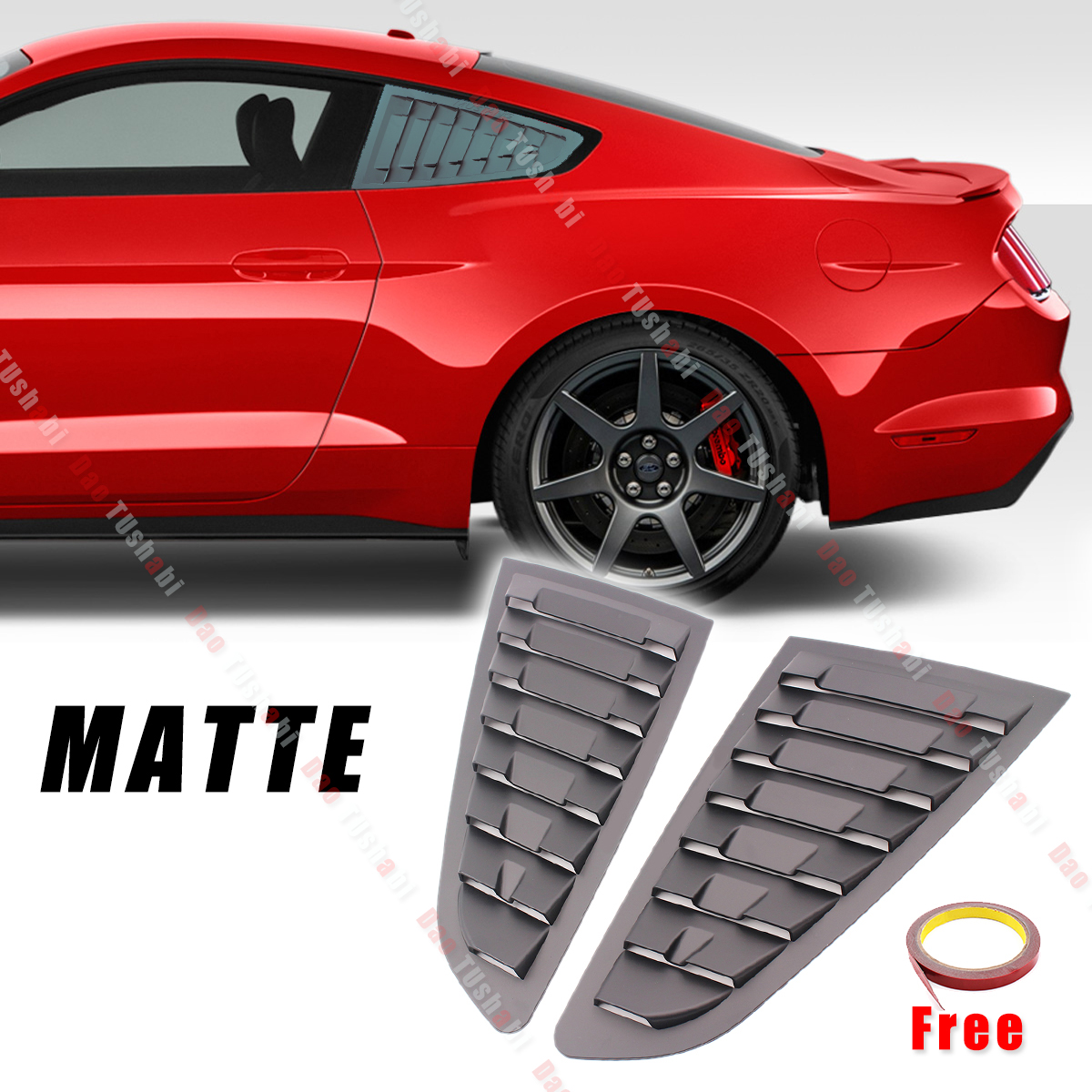 Matte Chrome Interior door handle Panel Molding cover trim for Ford Mustang