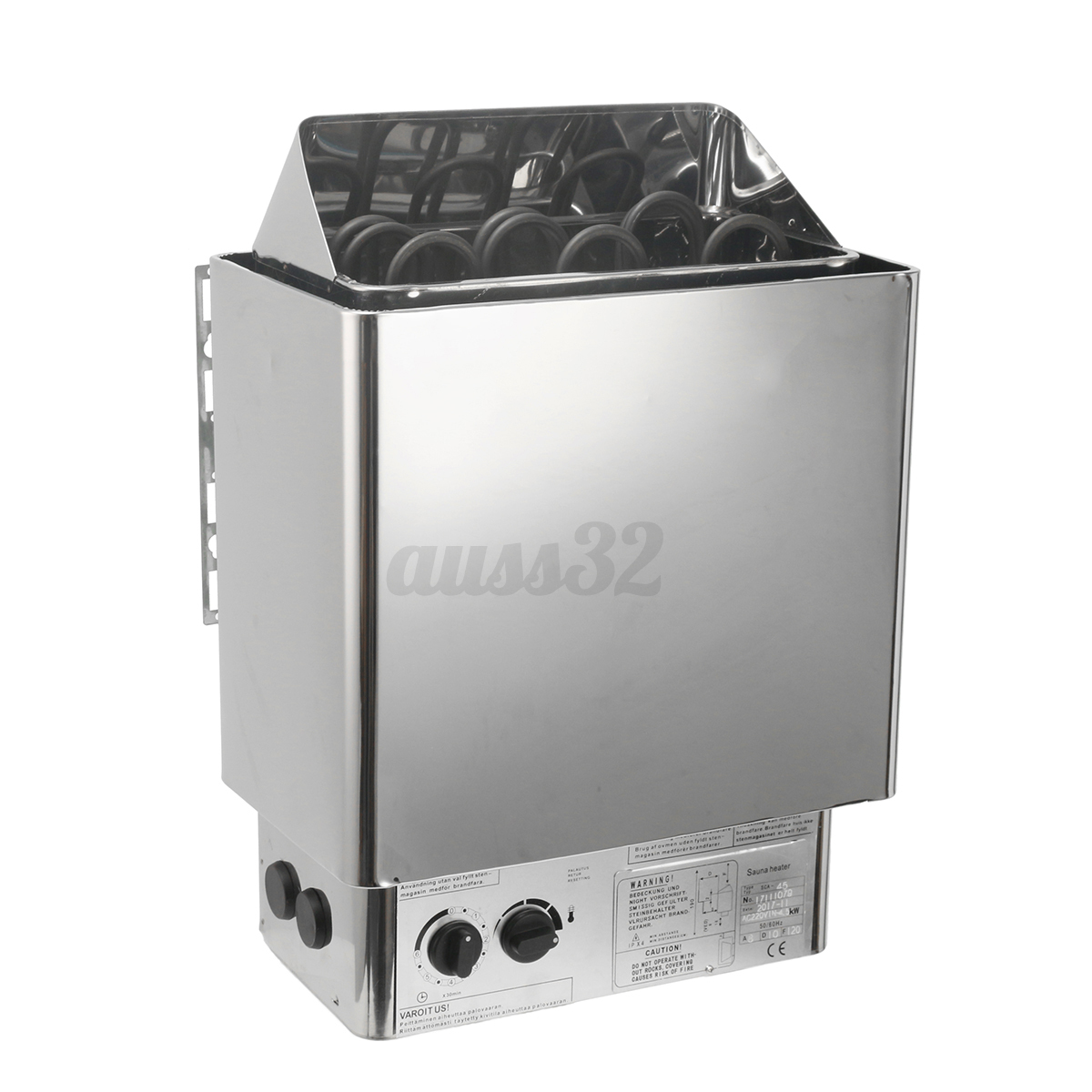 Type v sauna heater stove wet dry stainless