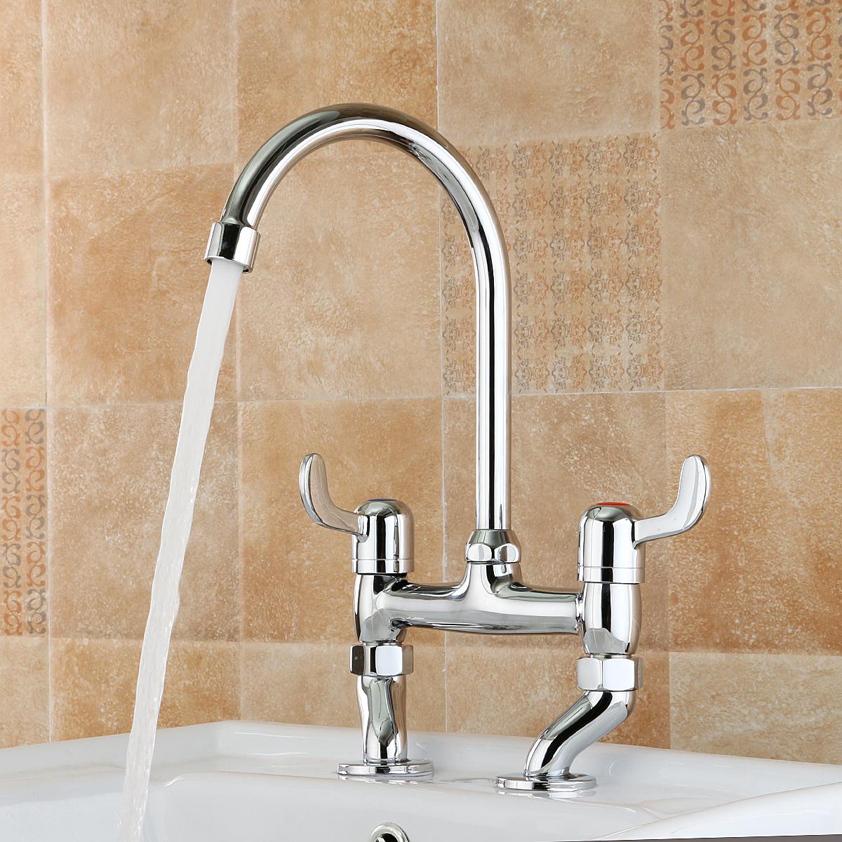 TAPCET Chrome Bath Filler Mixer Shower Taps Bathroom & Kitchen Basin ...