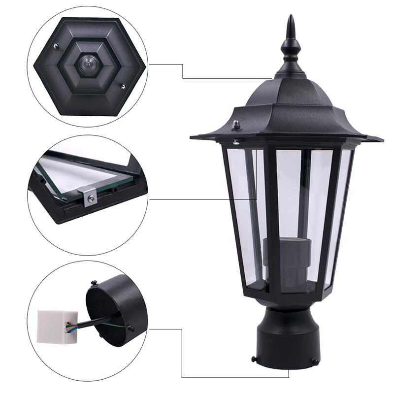 40W Outdoor Lantern Light LED Garden Lamp Yard Patio Pillar Candle AC110-220V US