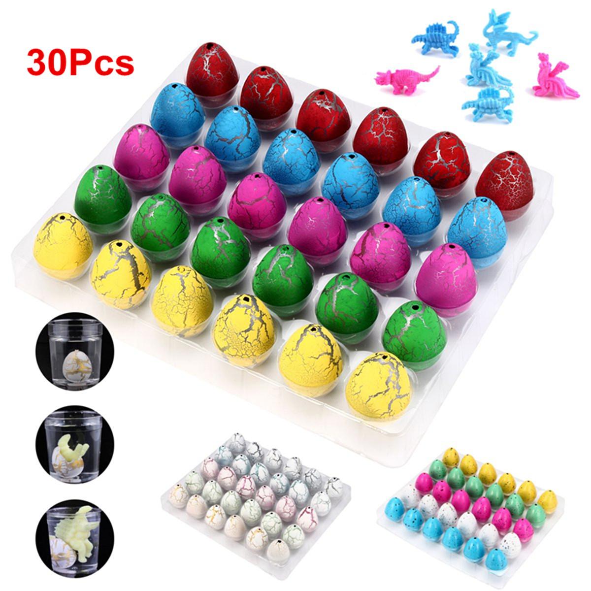60pcs Magic Add Water Dinosaur Eggs Hatching Dino Growing Children Toy Gift YP