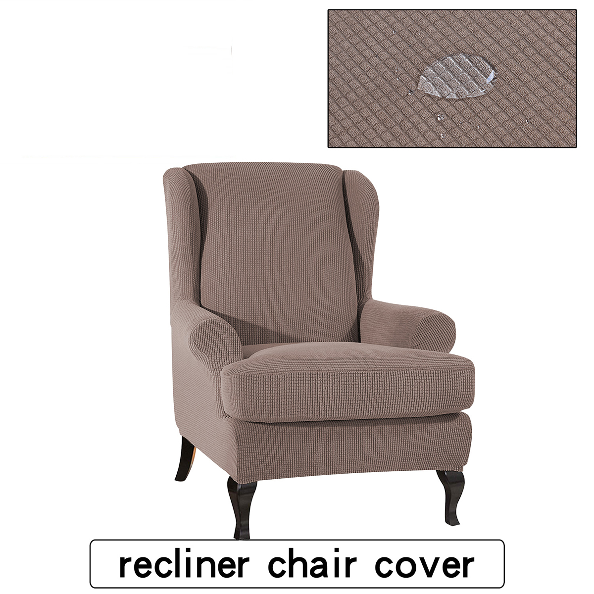 Details About Fabric Elastic Armchair Wingback Wing Chair Slipcovers Home Furniture Protector