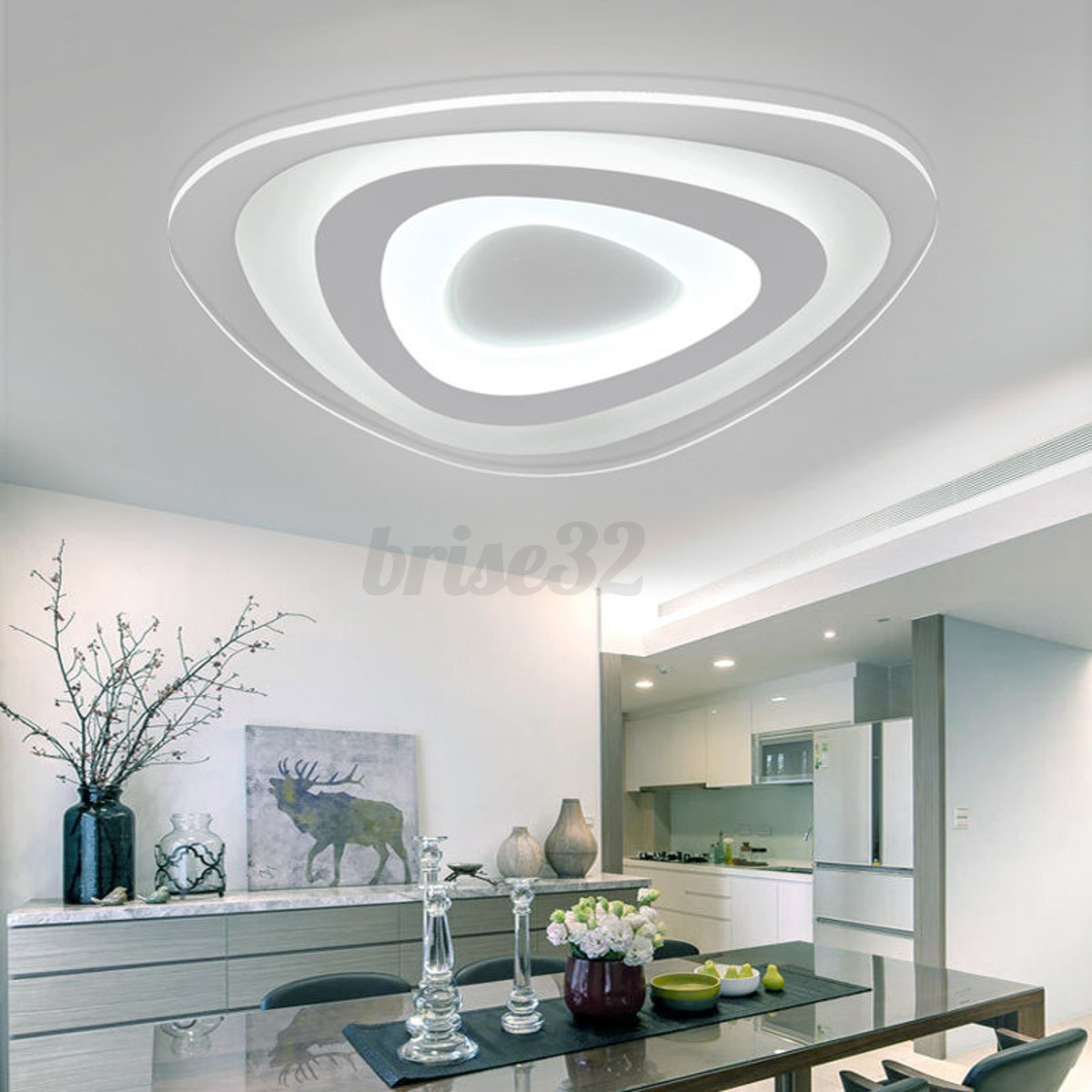 Contemporary Ceiling Lamps: 12/35/48W Modern Ultrathin LED Lamp Flush Mount Ceiling
