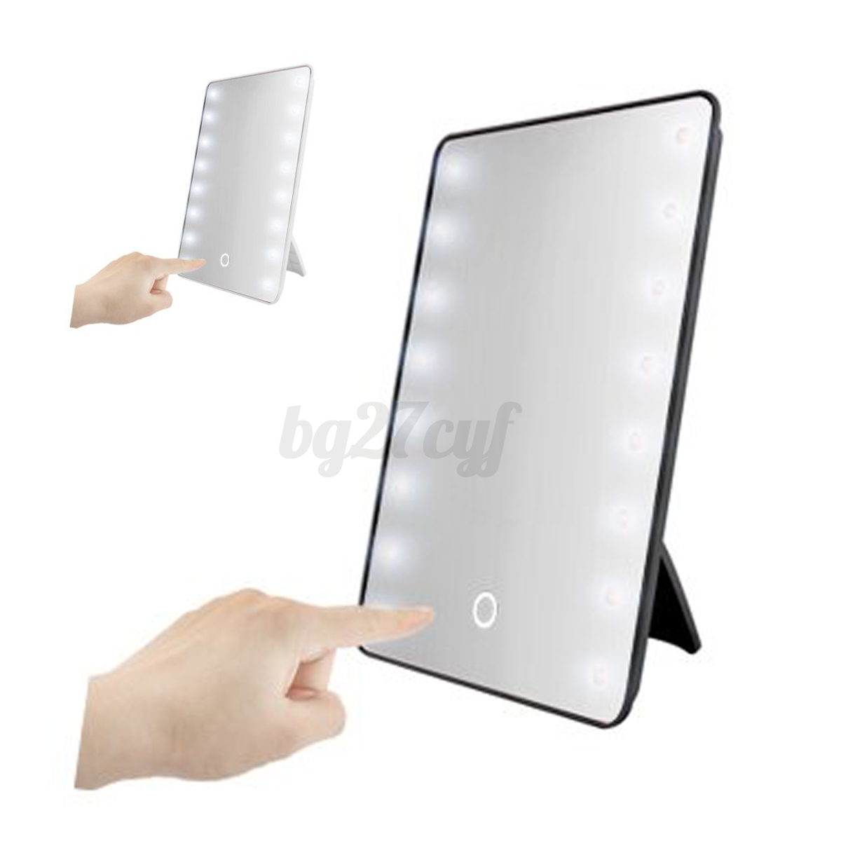 Portable 16 LED Vanity Lights Touch Screen Makeup Cosmetic Stand