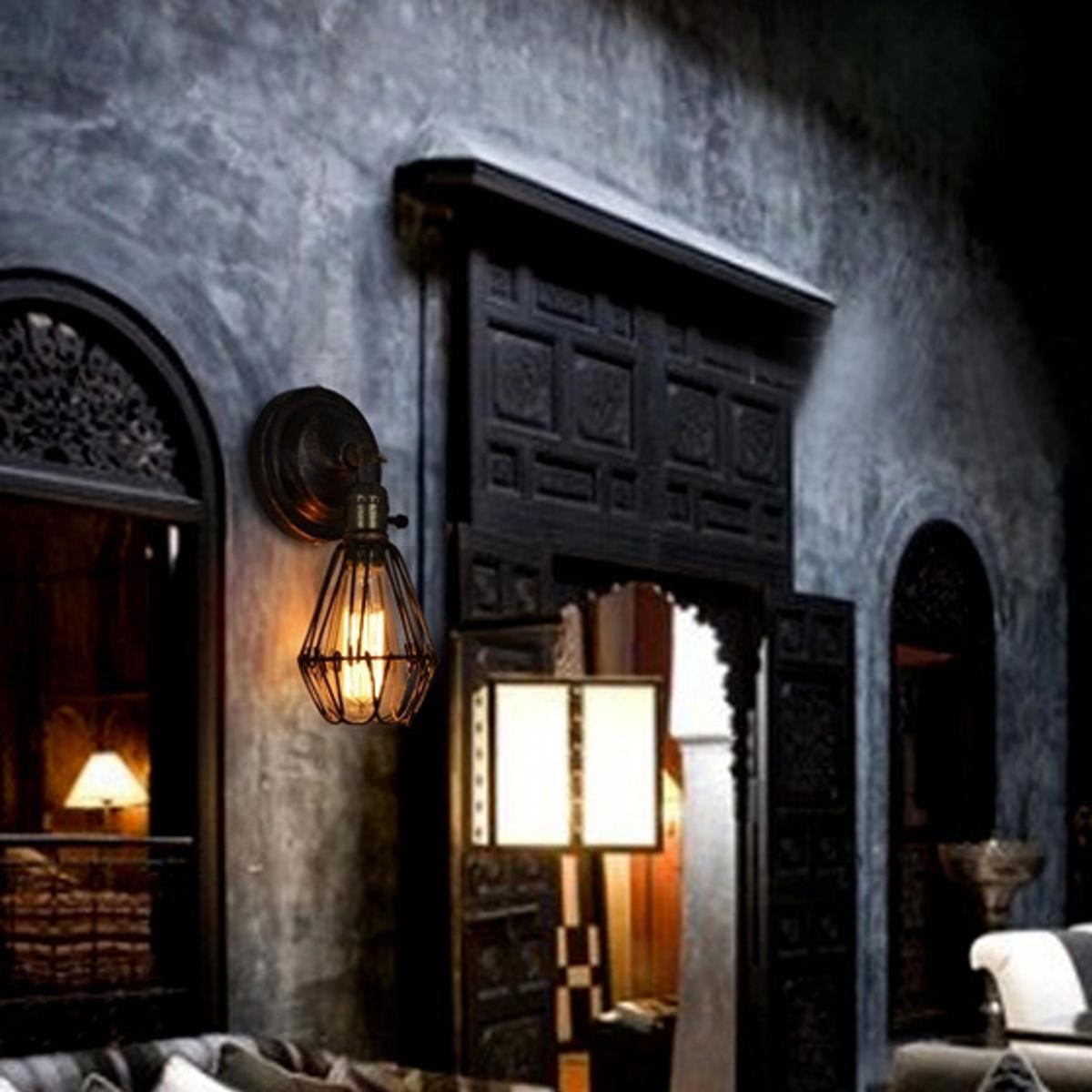 Vintage industriel lampe murale lustre edison applique for Applique murale exterieur ebay