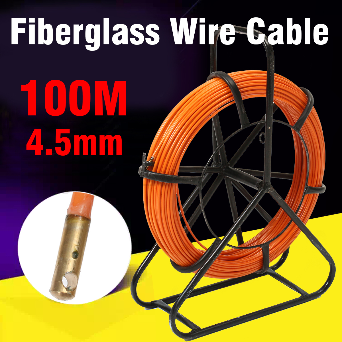150m Fiberglass Duct Rodder Fish Tape Cable Running Rod Wire Puller Wiring