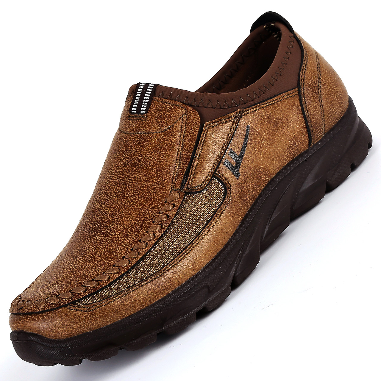 Men-039-s-Casual-Leather-Slip-On-Driving-Loafers-Antiskid-Moccasins-Breathable thumbnail 7