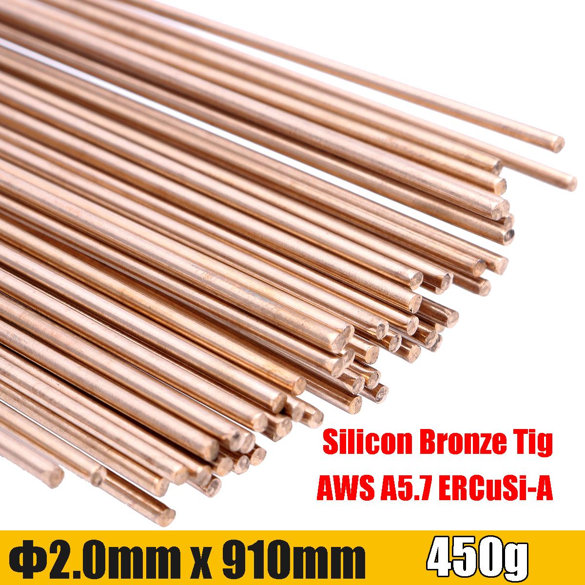 450g 3//32inch Gold Silicon Bronze Tig Welding Rods 91cm Long Rod 2mm Diameter 50
