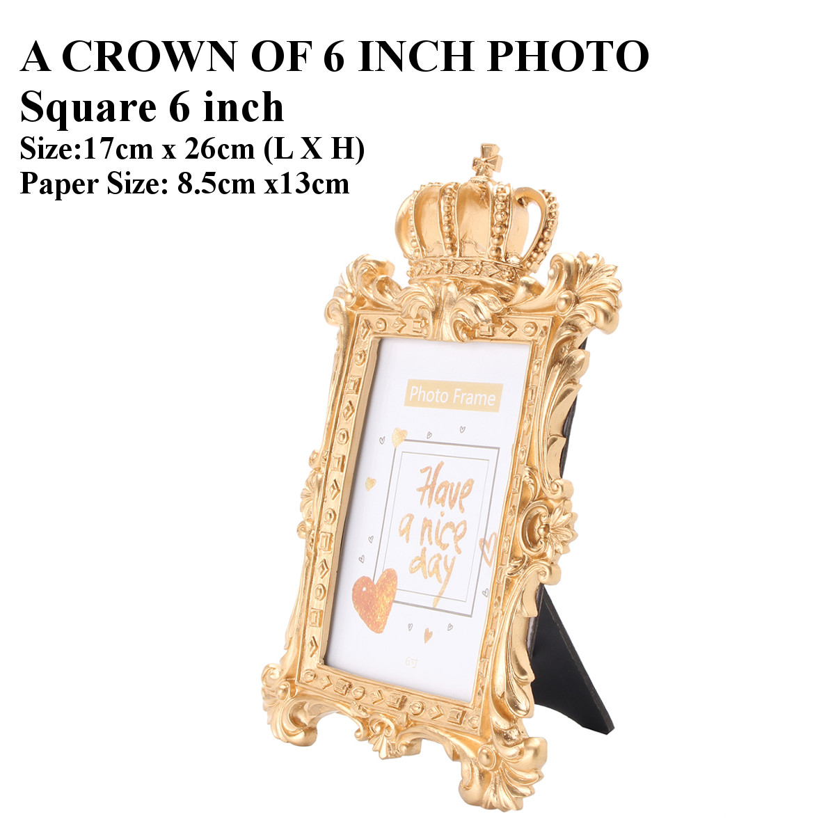 Gold crown home decor picture photo frame baroque luxury for Baroque style home accessories
