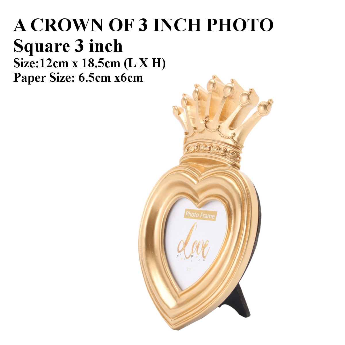 Gold crown home decor picture photo frame baroque luxury for Crown decorations home