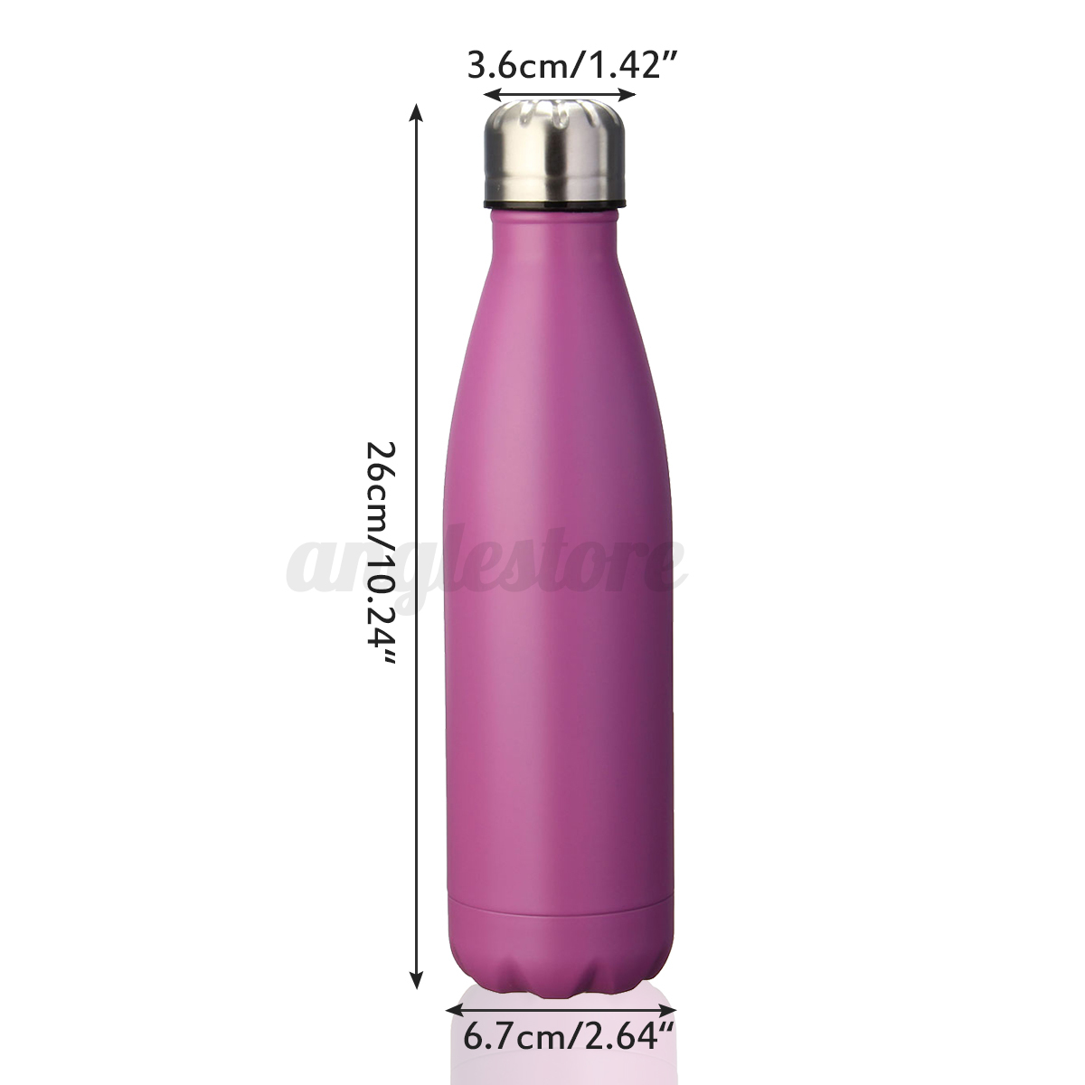 500ML-Stainless-Steel-Double-Wall-Vacuum-Insulated-Bottle-Water-Flask-Sport miniature 11