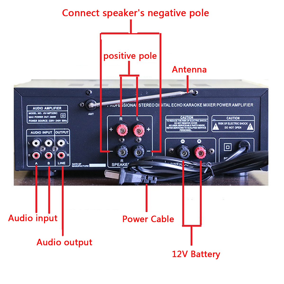 Details about 800W Watt 2CH Home bluetooth EQ Stereo Power Amplifier  Equalizer Amp USB/SD