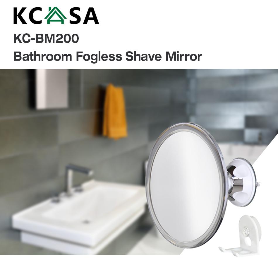 kcasa fogless shaving shower mirror bathroom anti fog wall suction mount hook ebay. Black Bedroom Furniture Sets. Home Design Ideas