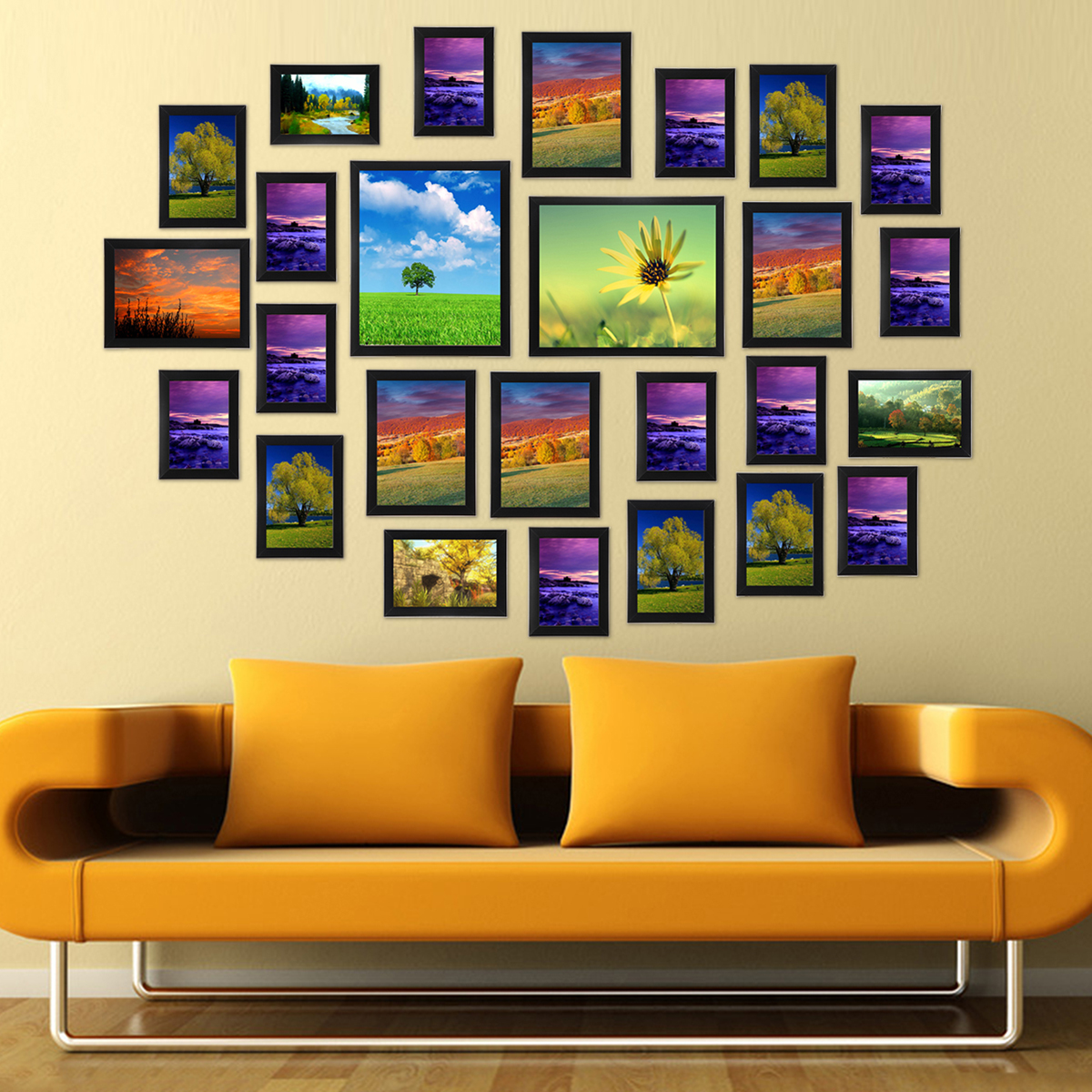 23/26Pcs Multi Photo Picture Frames Set Collage Valentine Gift Wall ...