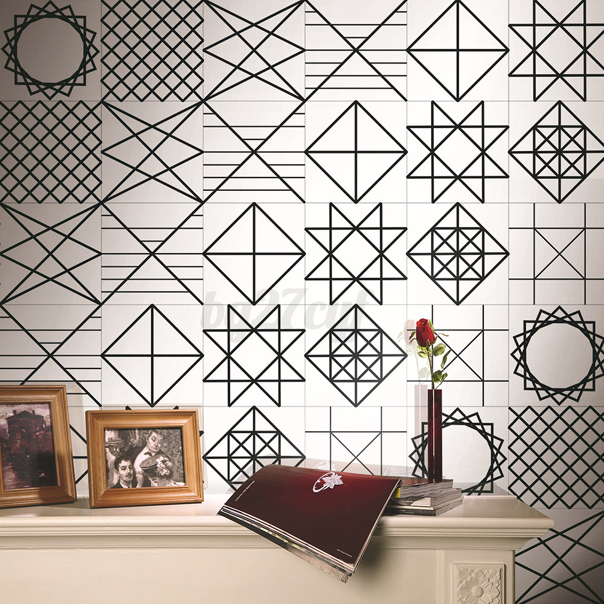 5m self adhesive tile vinyl art wall decal sticker diy - Stickers muraux cuisine ...