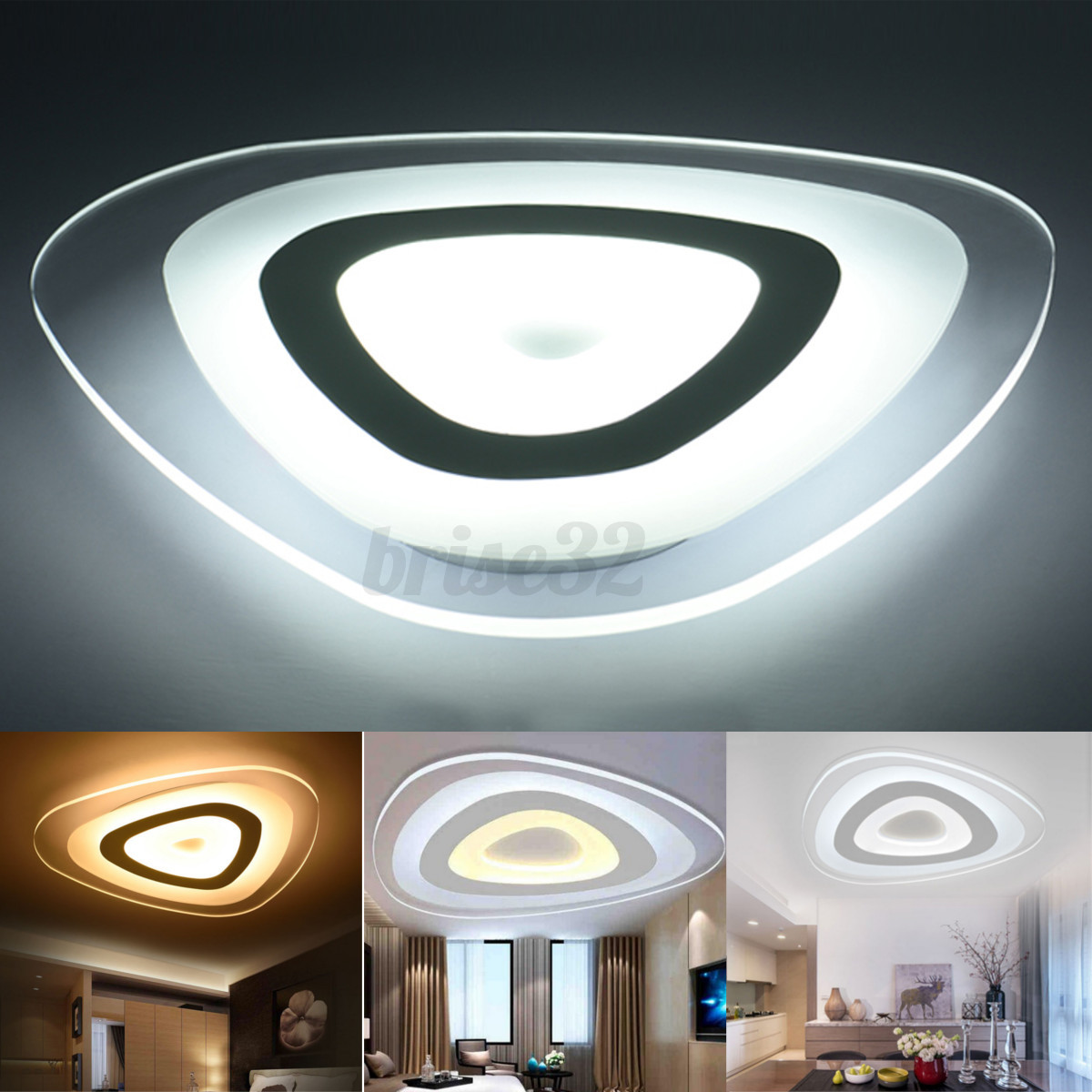 48w Flush Mount Led Pendant Light Ceiling Lamp Bedroom: 12/35/48W Modern Ultrathin LED Lamp Flush Mount Ceiling