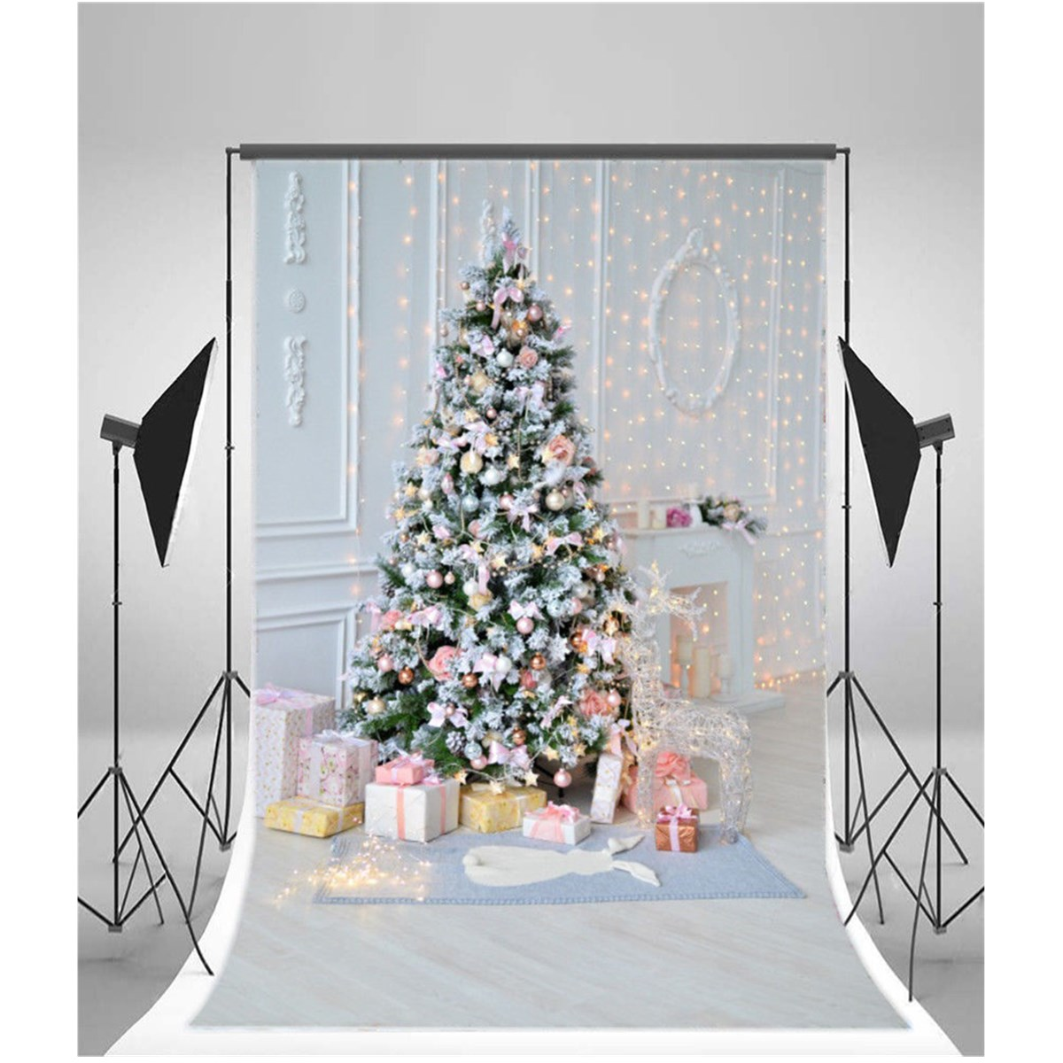 5x7-3x5FT-Baby-Wall-Photo-Background-Backdrop-Studio-Photography-Prop-Christmas
