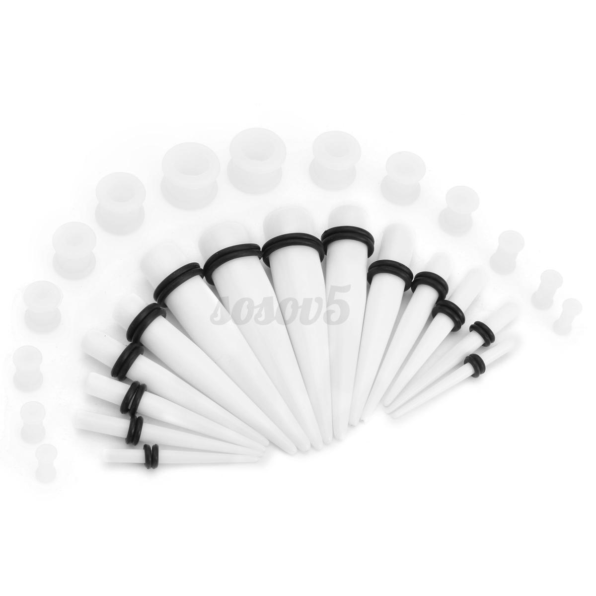 28pcs-Conica-Ear-Expansor-Tapon-Oido-Dilatador-De-Estiramiento-Piercing-Kits-Set