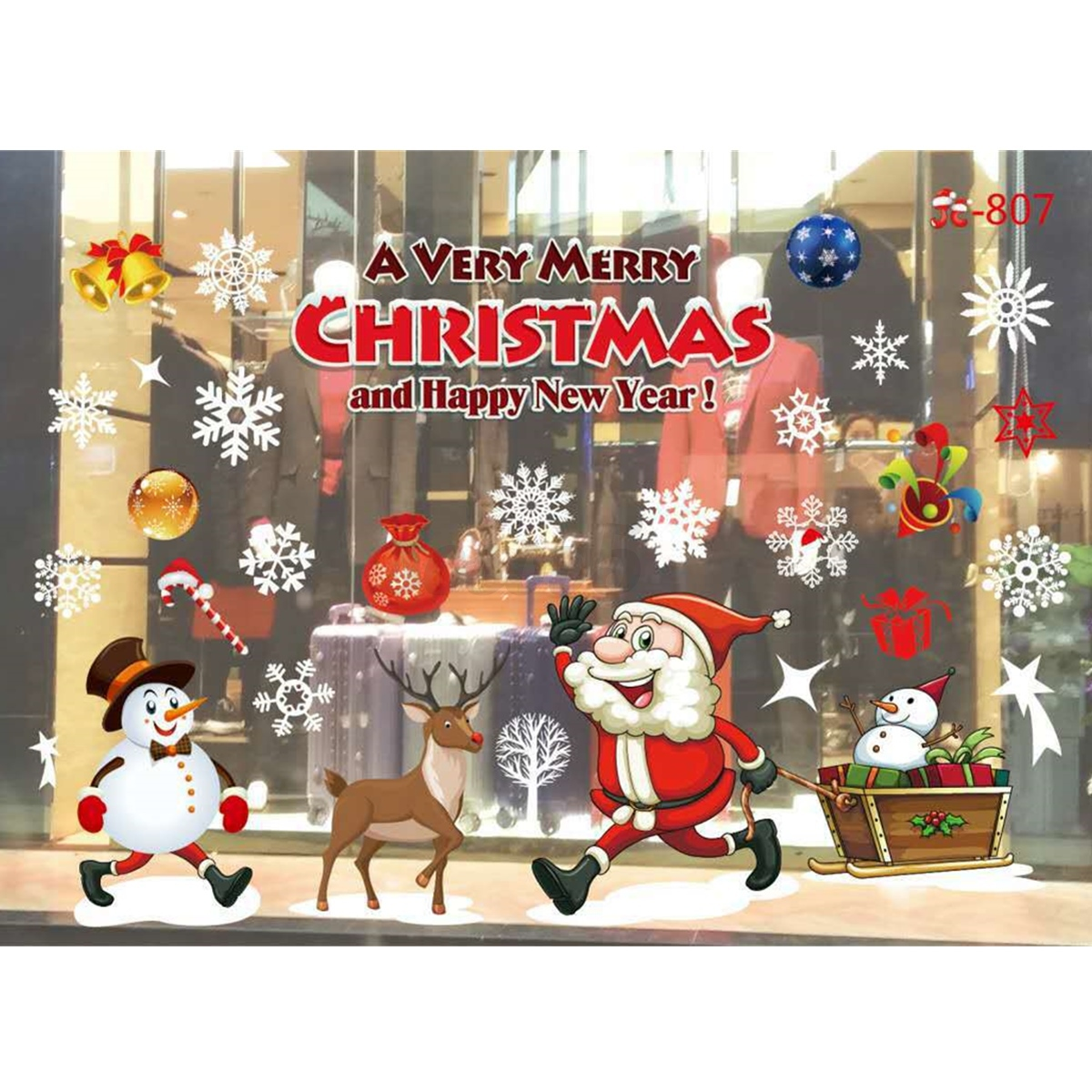 christmas wall decor home window glass wall sticker decals hotel 13304