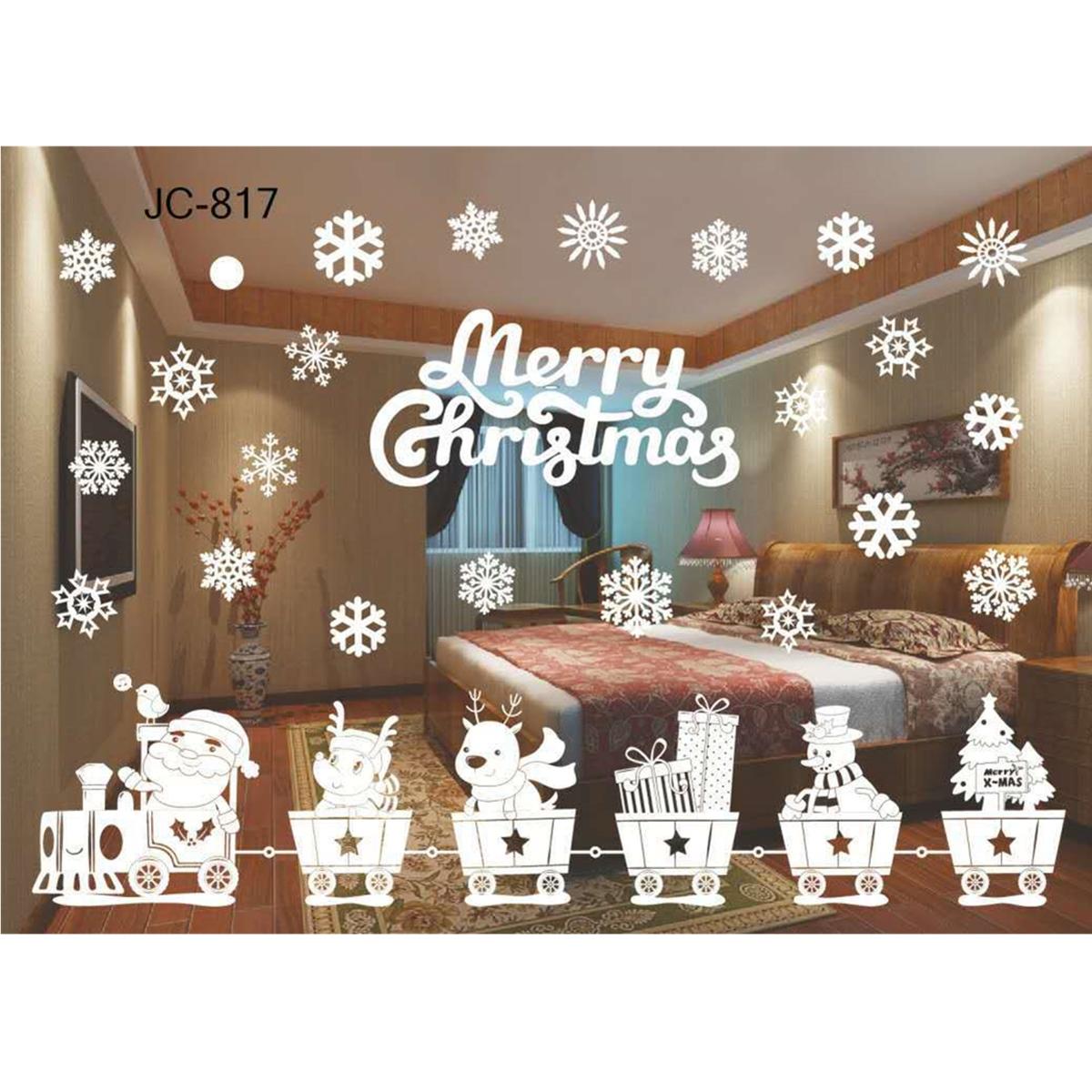Diy home window glass christmas xmas sticker wall decals for Diy hotel decor
