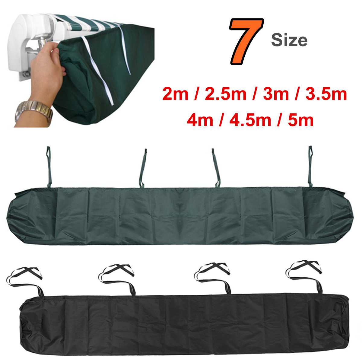Details About 2m 5m Awning Weather Rain Cover Patio Awnings Sun Canopy Storage Bag