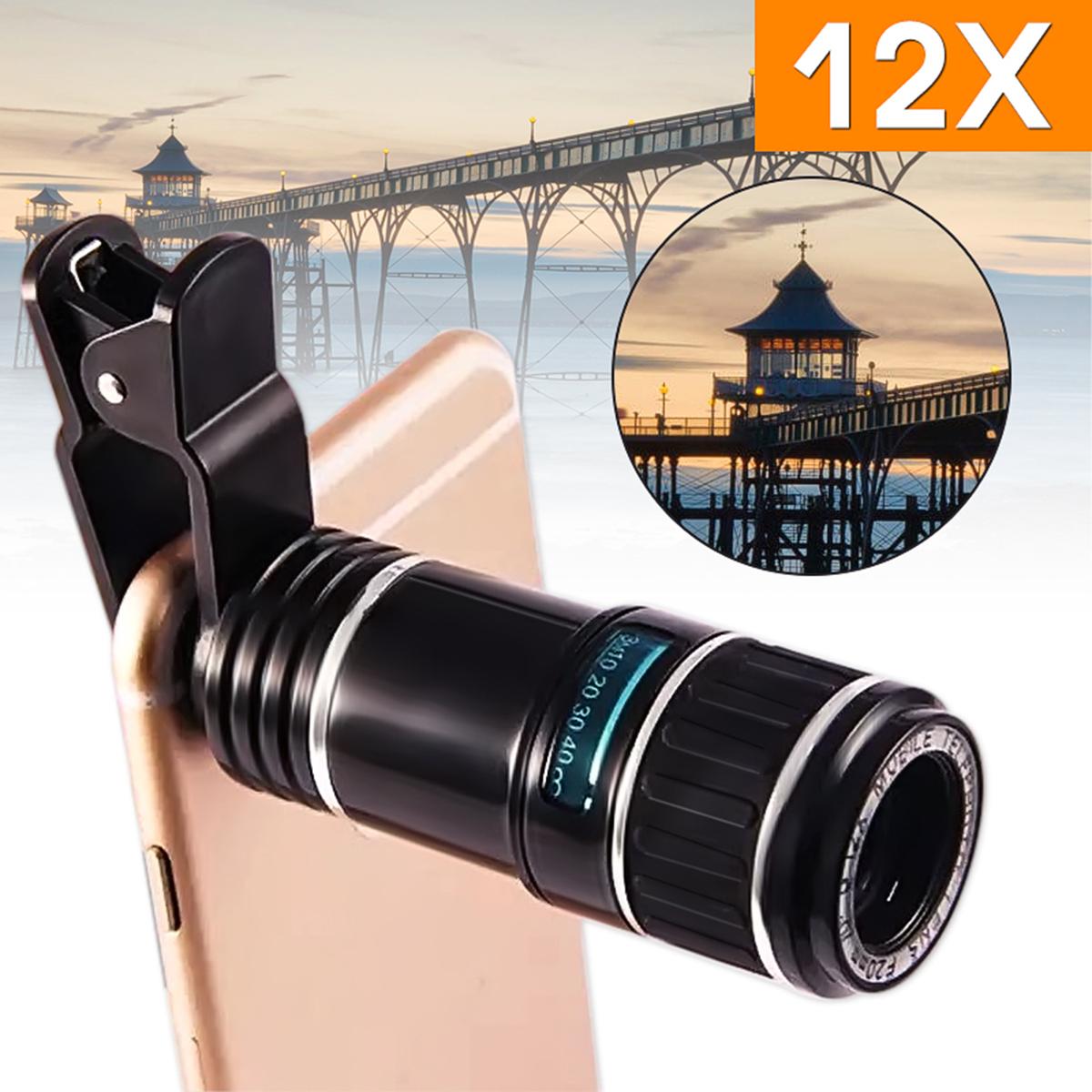 12X-Universel-Telescope-Monoculaire-Objectif-Lentille-Clip-Telephone-Pr-iPhone-X