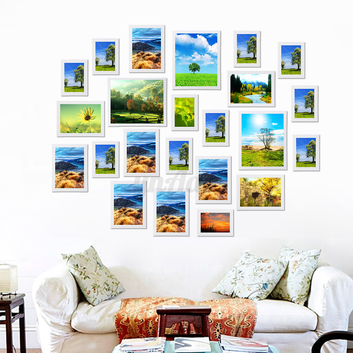 Home Decor Wall Art 2326Pcs Multi Photo Picture Frames Set Diy Home Decor Wall Art