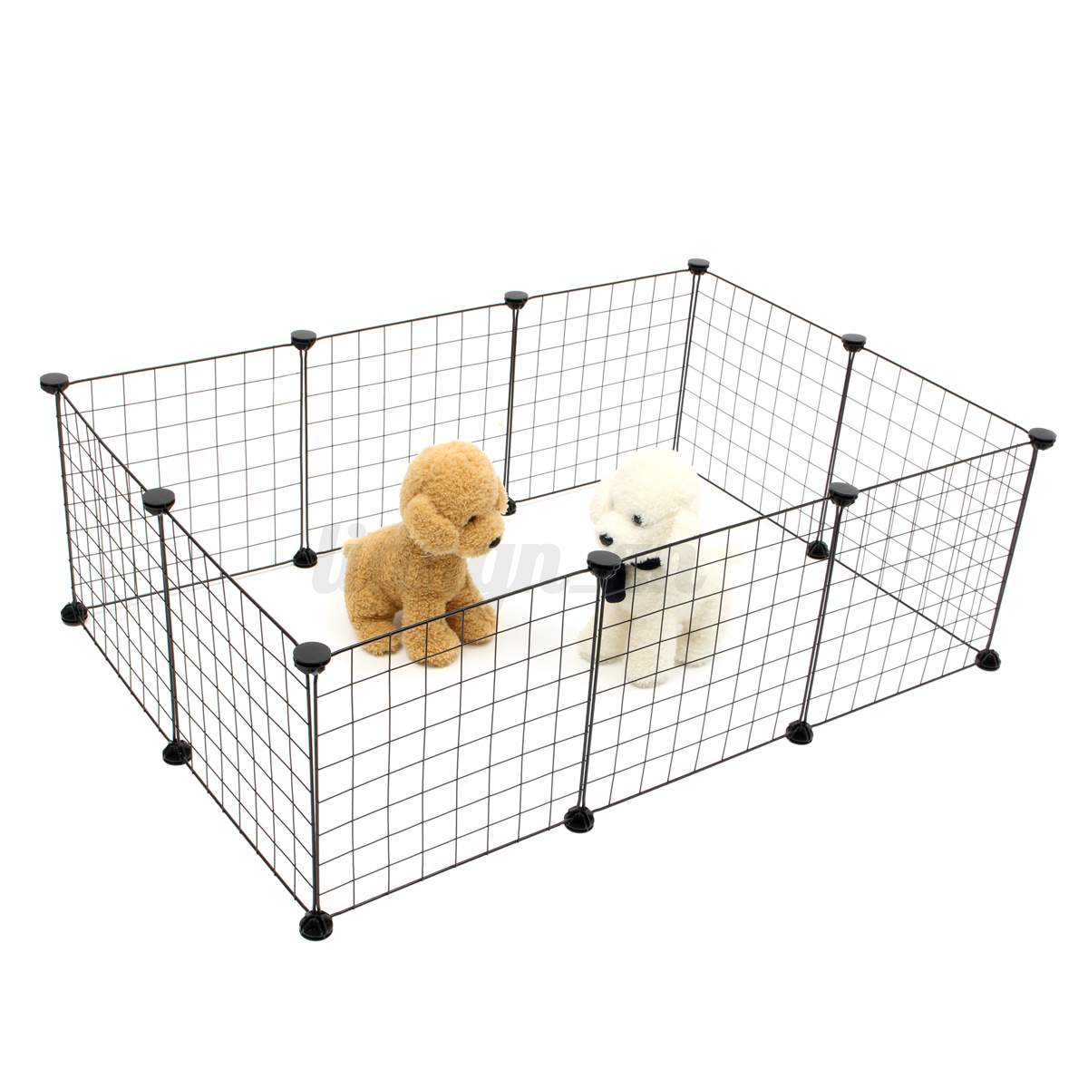 haustier laufstall platten hund kiste zaun welpen kennel bung cage 6 10 panel ebay. Black Bedroom Furniture Sets. Home Design Ideas