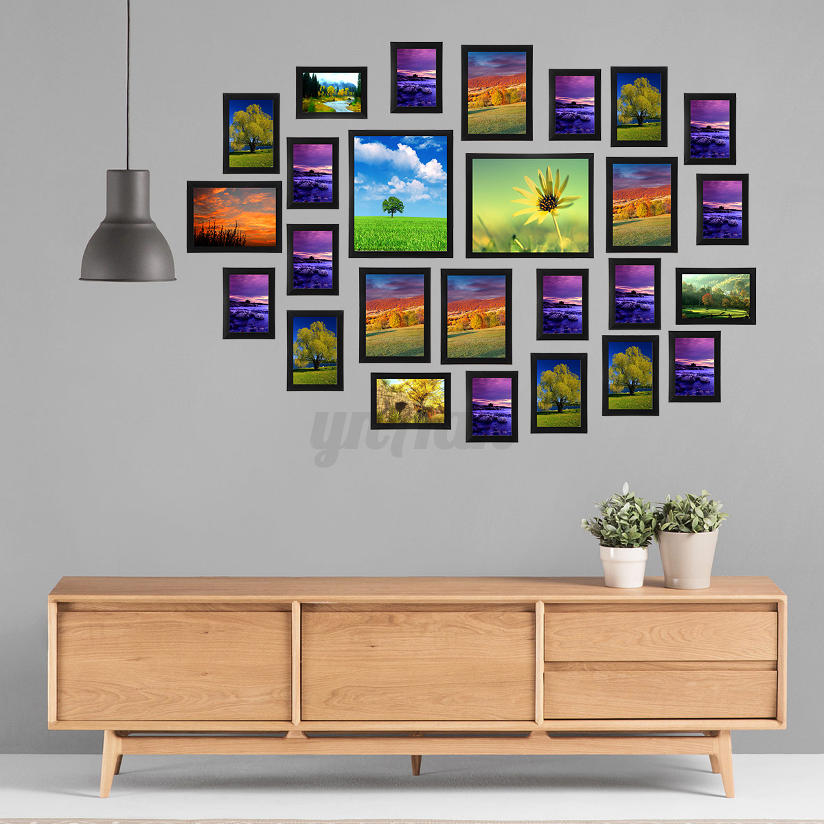 23 26pcs multi photo picture frames set diy home decor wall art collage family ebay - Home decorated set ...