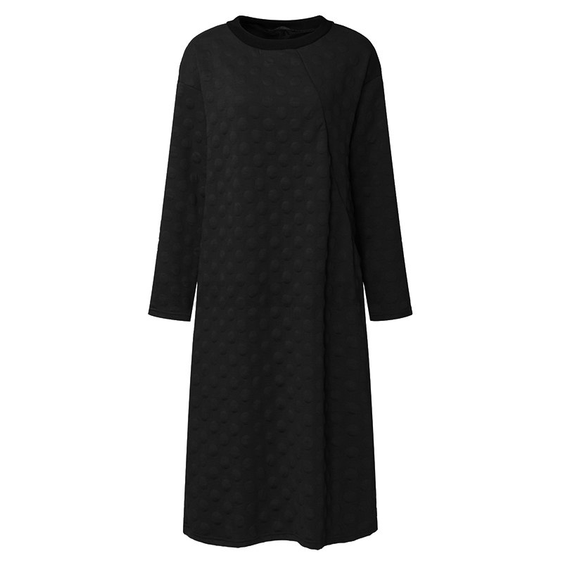 ZANZEA-10-24-Women-Casual-Loose-Plus-Size-Pullover-Kaftan-Dotted-Long-Midi-Dress