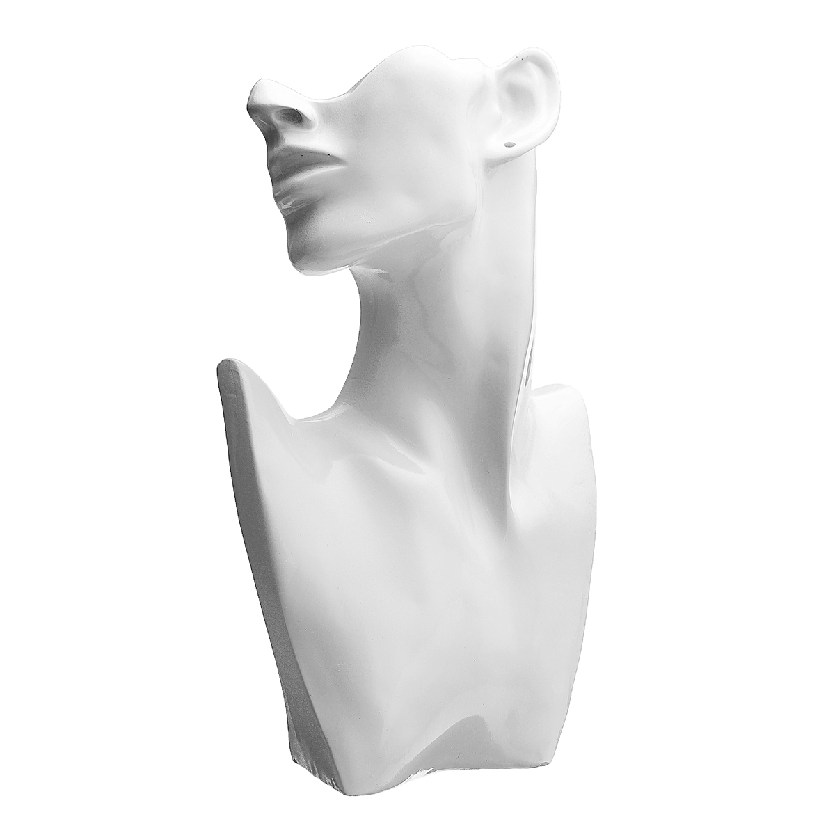 Resin-Mannequin-Necklace-Earring-Jewelry-Display-Head-Bust-Stand-Holder thumbnail 6