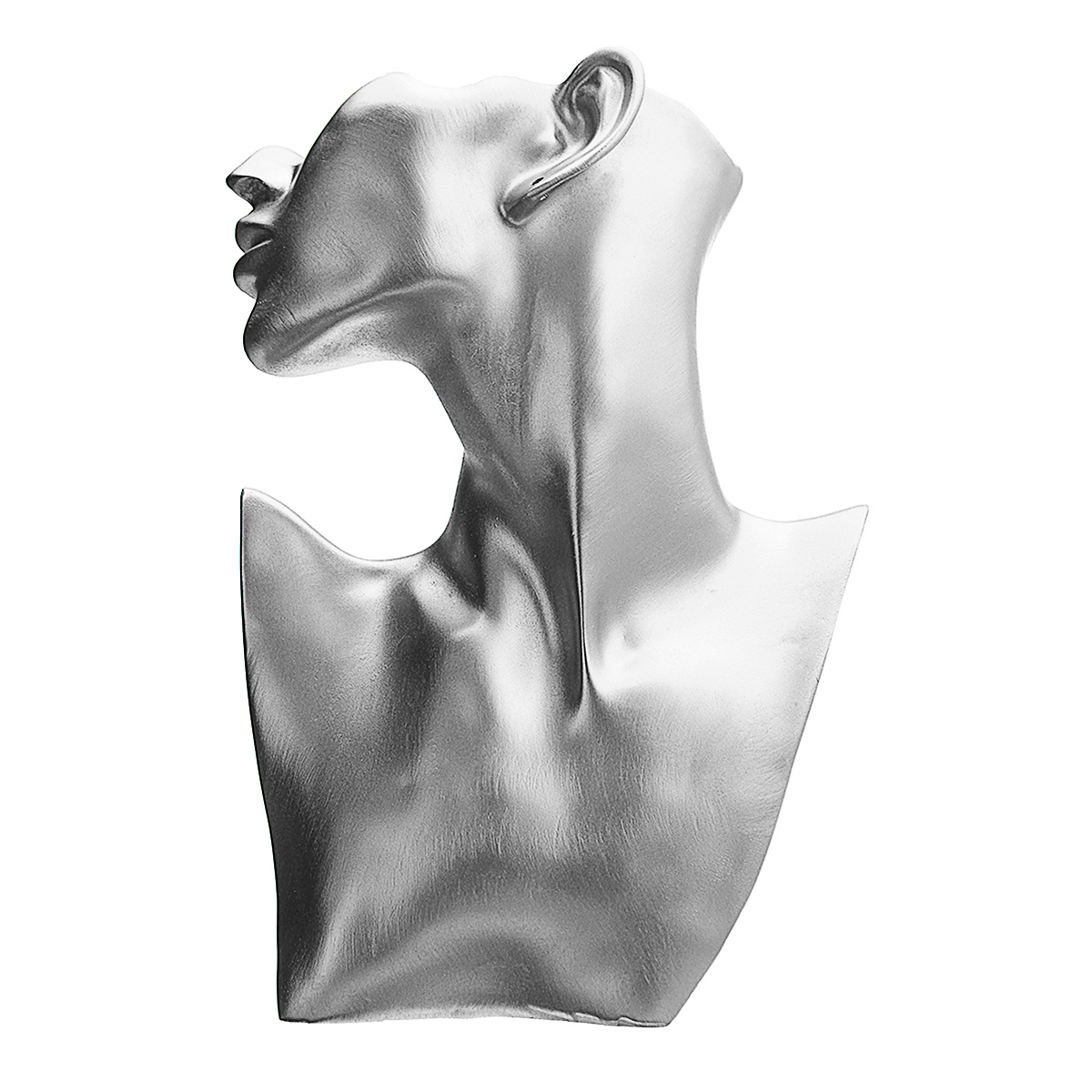 Resin-Mannequin-Necklace-Earring-Jewelry-Display-Head-Bust-Stand-Holder thumbnail 4