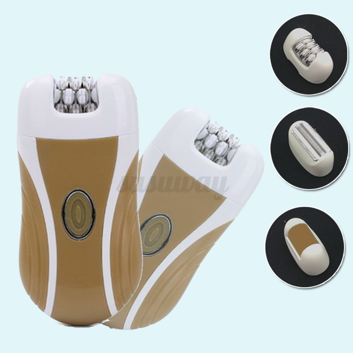 3 In 1 Rechargeable Electric Face Foot Callus Remover Hair Epilator Shaver Kit