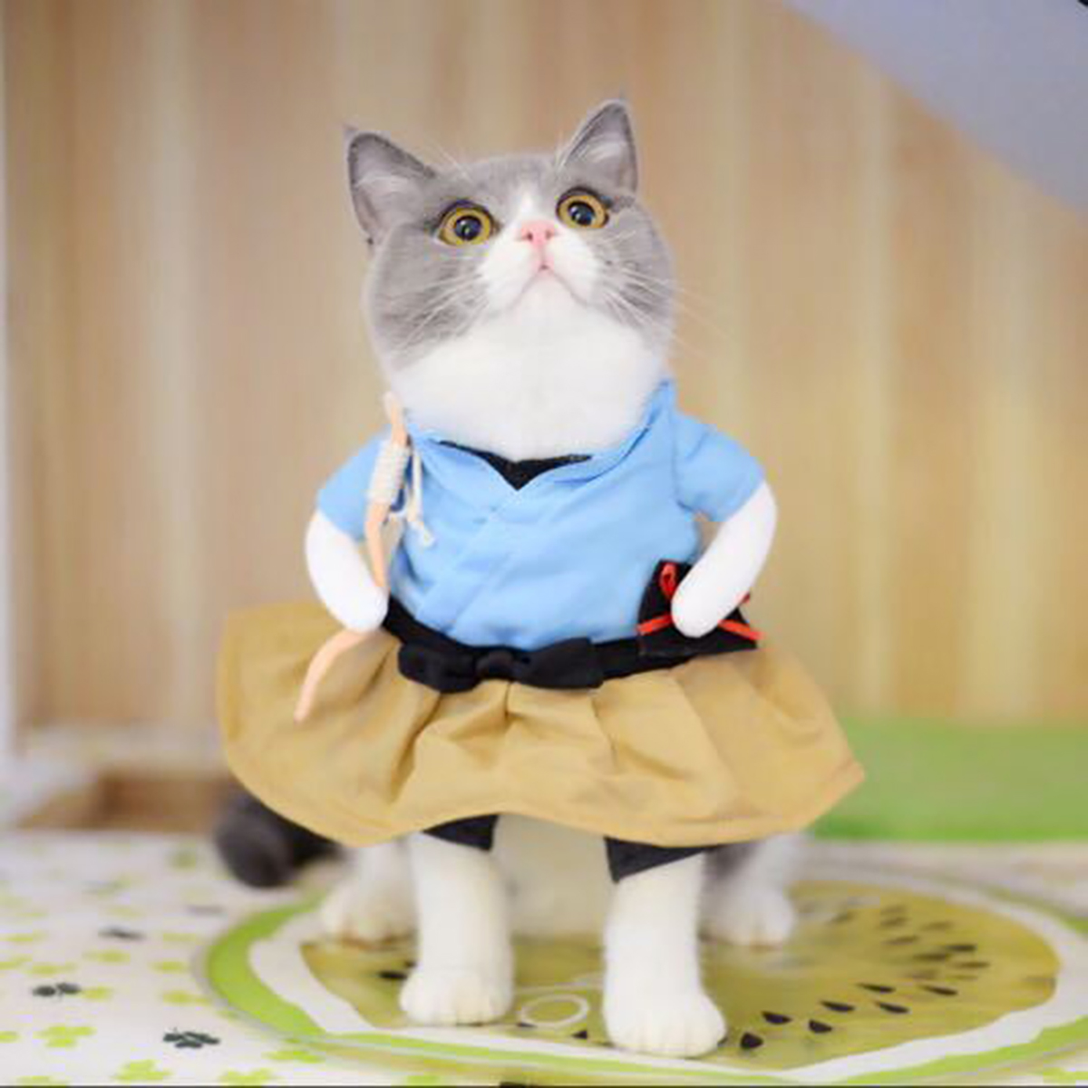 Cat-Dog-Tops-Clothes-Costume-Cool-Christmas-Halloween-Costume-Pet-Clothes thumbnail 3