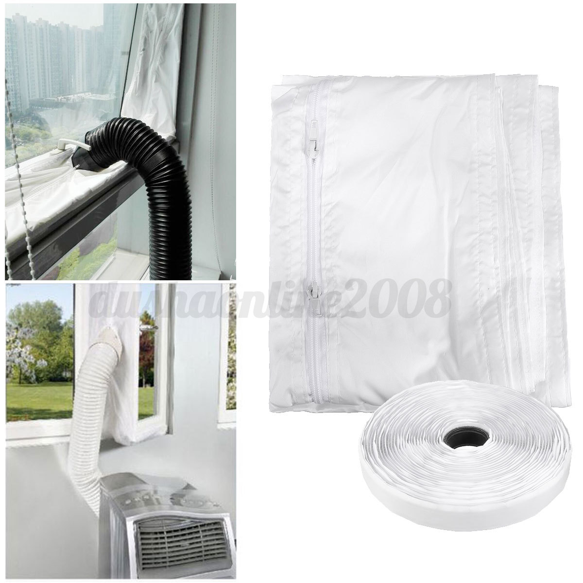 Kit 4m voile isolant airlock calfeutrage pour climatiseur - Kit d etancheite porte fenetre pour climatiseur ...